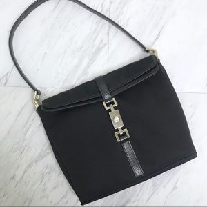 Authentic Vintage Gucci Fold Over Buckle Bag Black